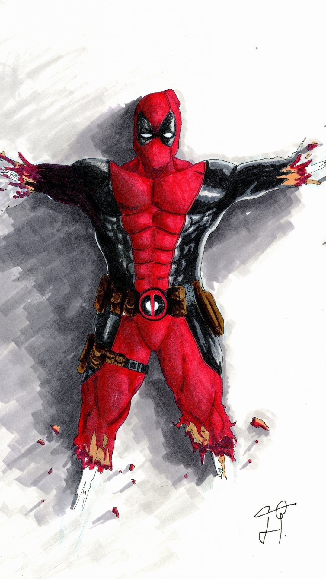 Deadpool hd wallpapers for iphone 6 plus wallpapers deadpool front voltagebd Choice Image