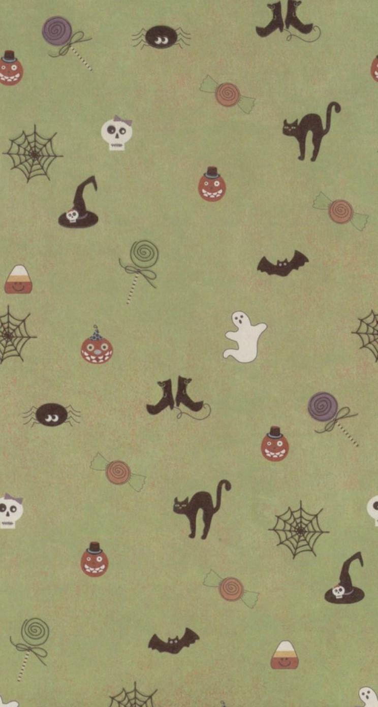 Great Wallpaper Halloween Note 4 - cute-halloween-pattern-wallpaper-wallpaper-background-744x1392  2018_515716.jpg