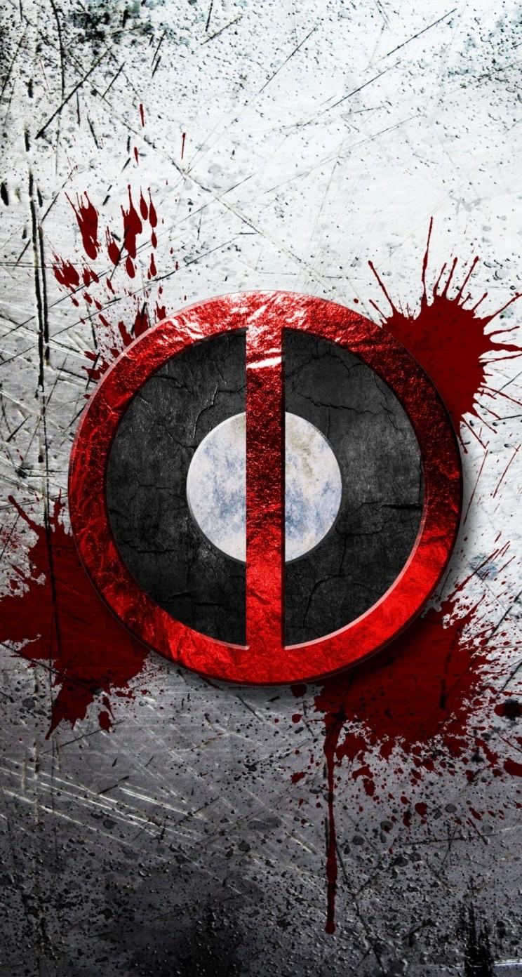 Hd wallpaper for iphone 5s - Deadpool Blood