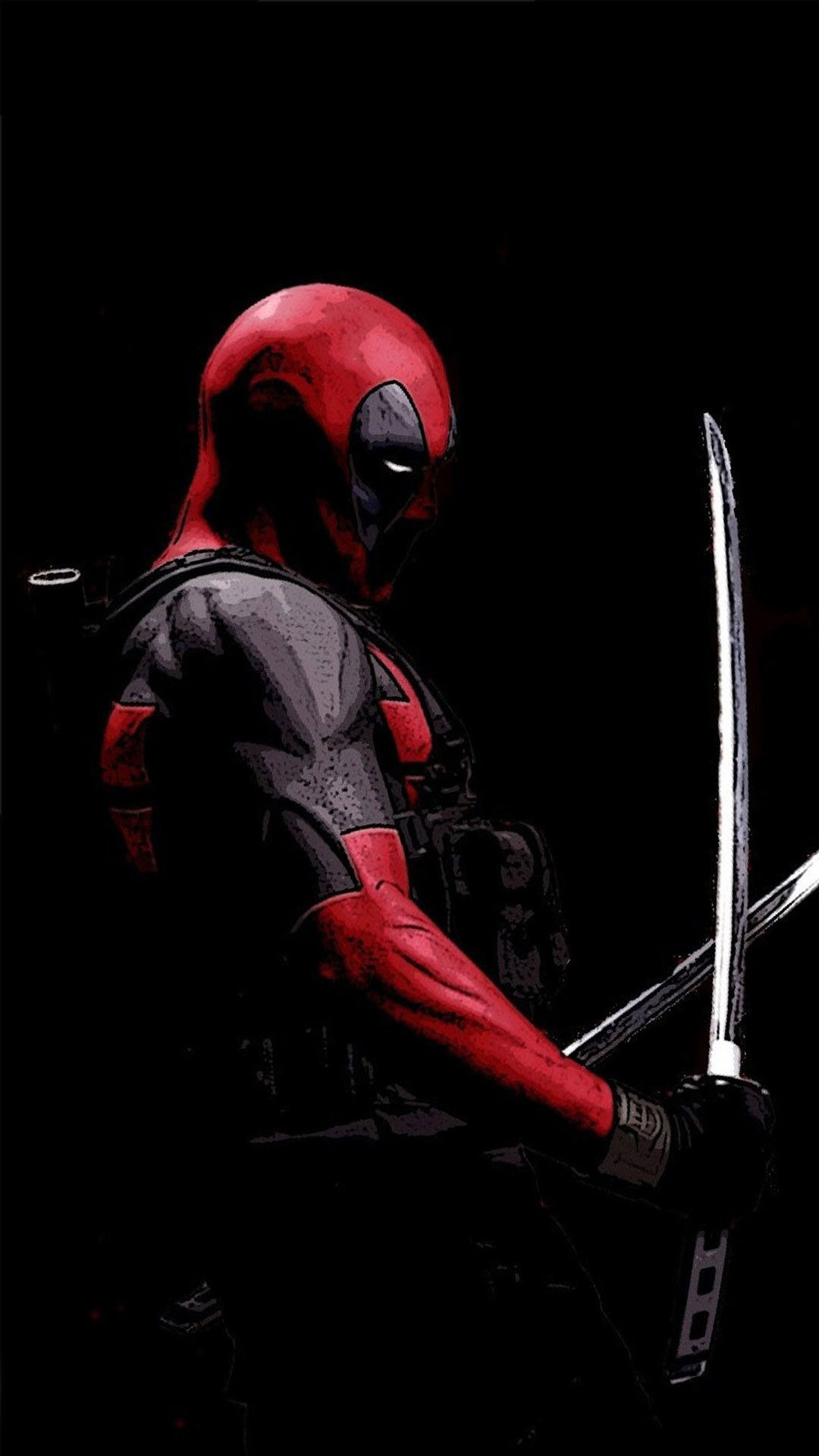 deadpool with his swords
