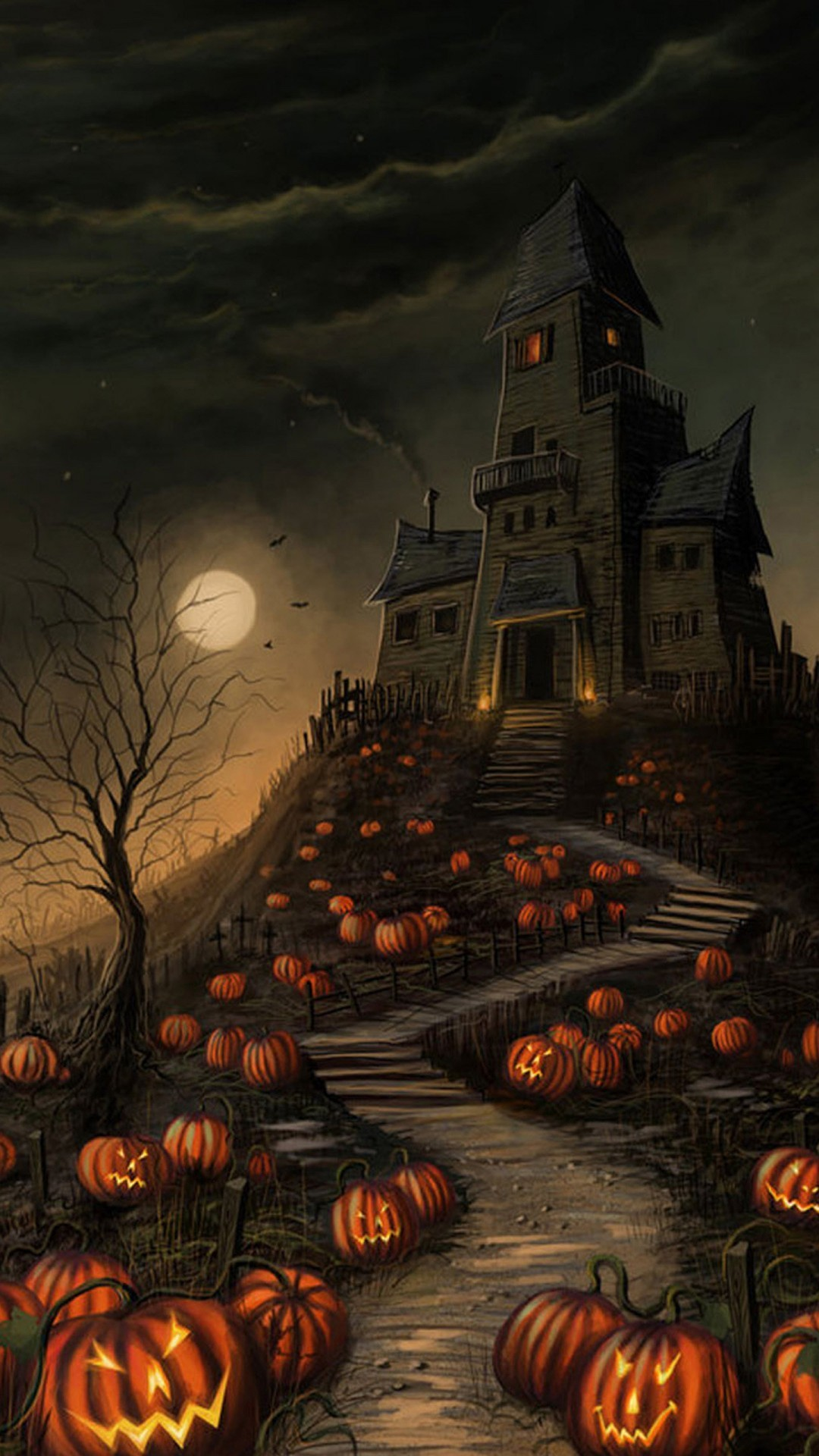 Wonderful Wallpaper Halloween Iphone 6s Plus - halloween-hunted-castle-wallpaper-background-1080x1920  2018_628354.jpg