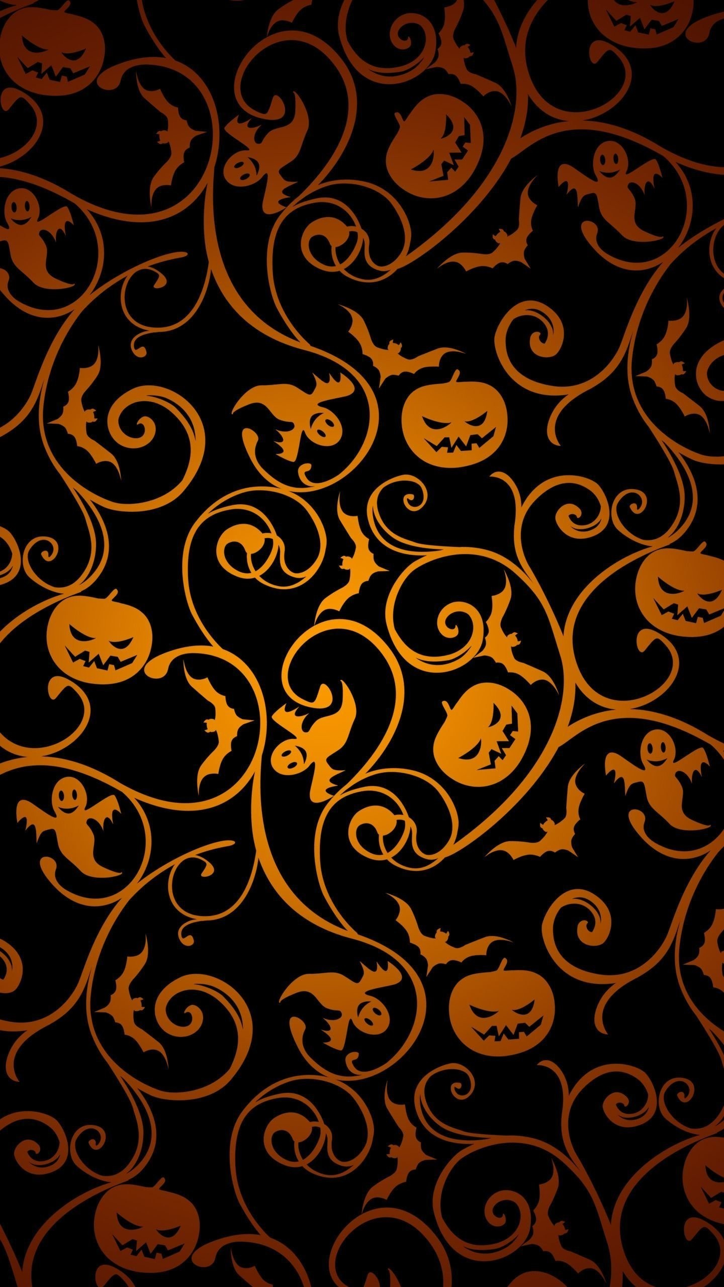Top Wallpaper Halloween Galaxy - halloween-pattern-wallpaper-background-1440x2560  Image_912190.jpg