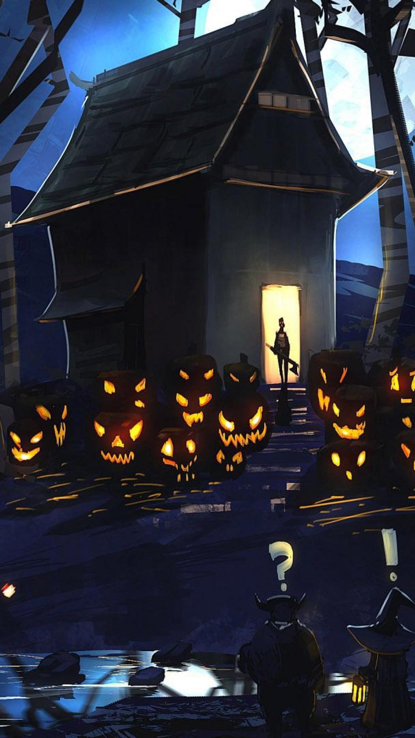 Popular Wallpaper Halloween Galaxy S6 - halloween-pumpkins-wallpaper-background-1440x2560  Collection_65352.jpg