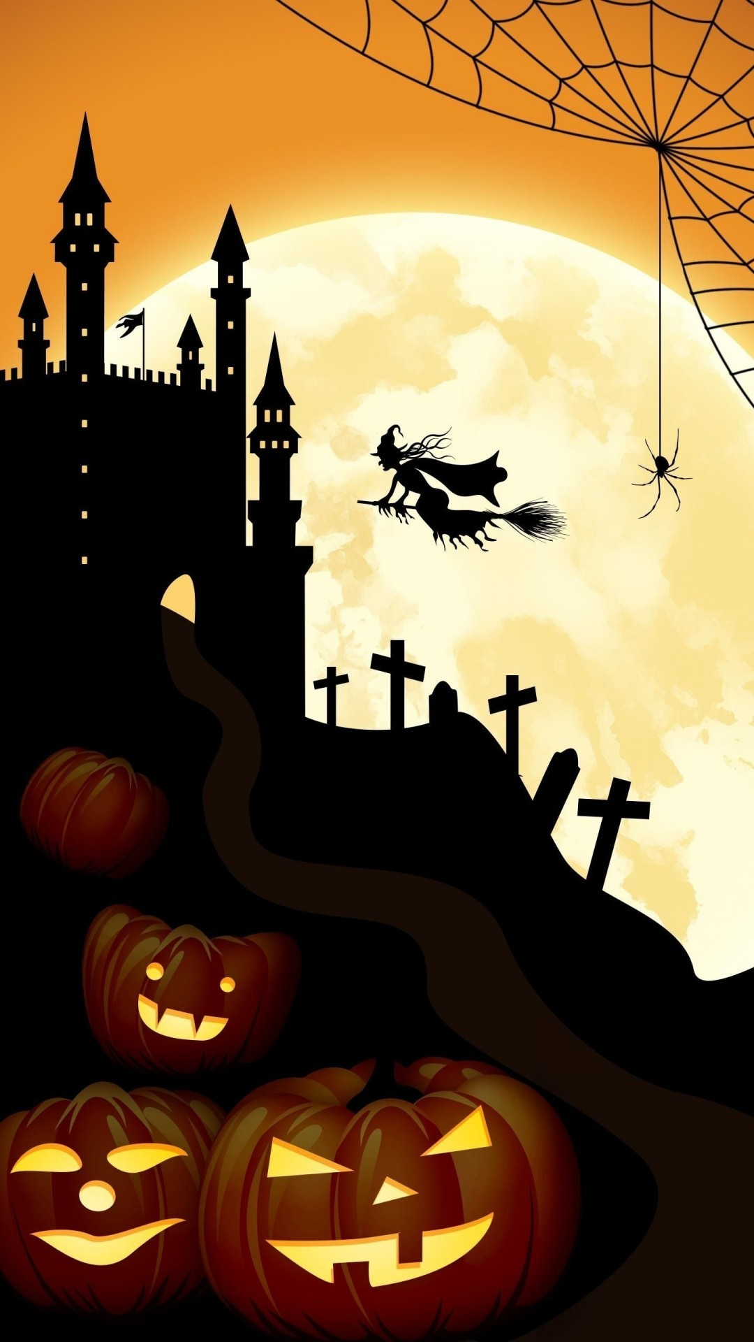 Halloween Bats And Castle