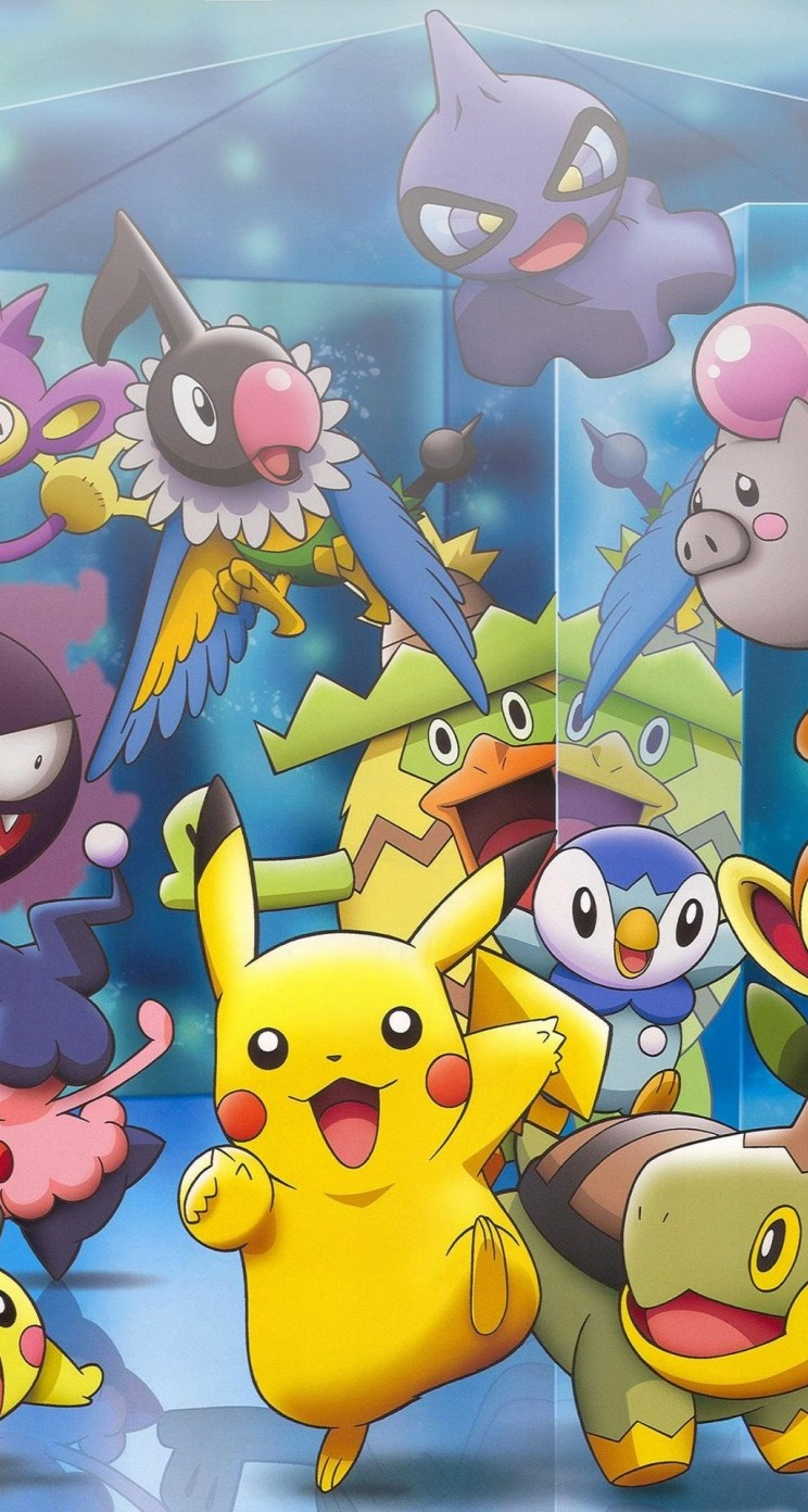 Pikachu And Other Pokemons Wallpaper IPhone 5 5s