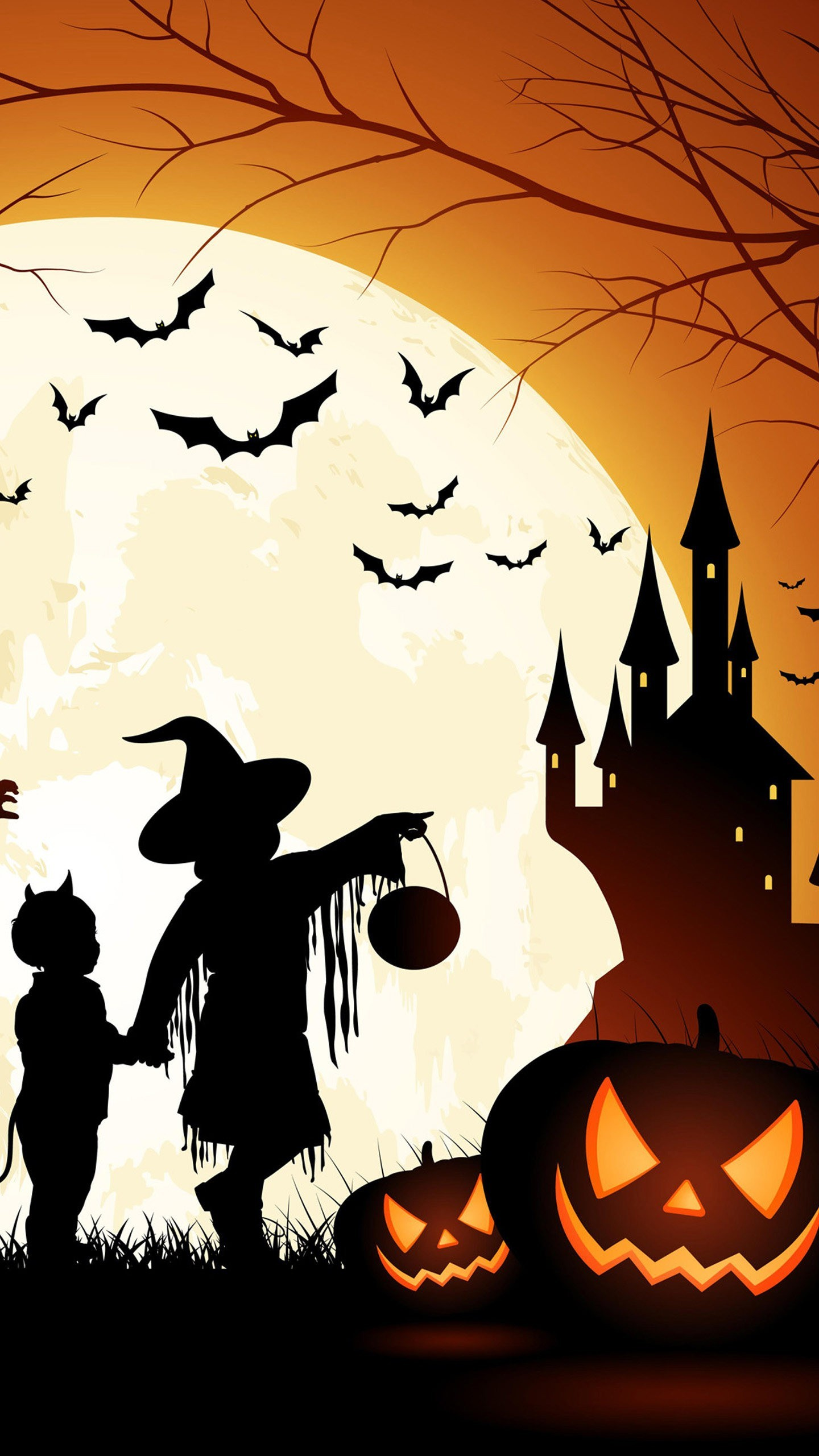 Great Wallpaper Halloween Galaxy S6 - witch-and-hunted-castle-wallpaper-wallpaper-background-1440x2560  Graphic_607051.jpg